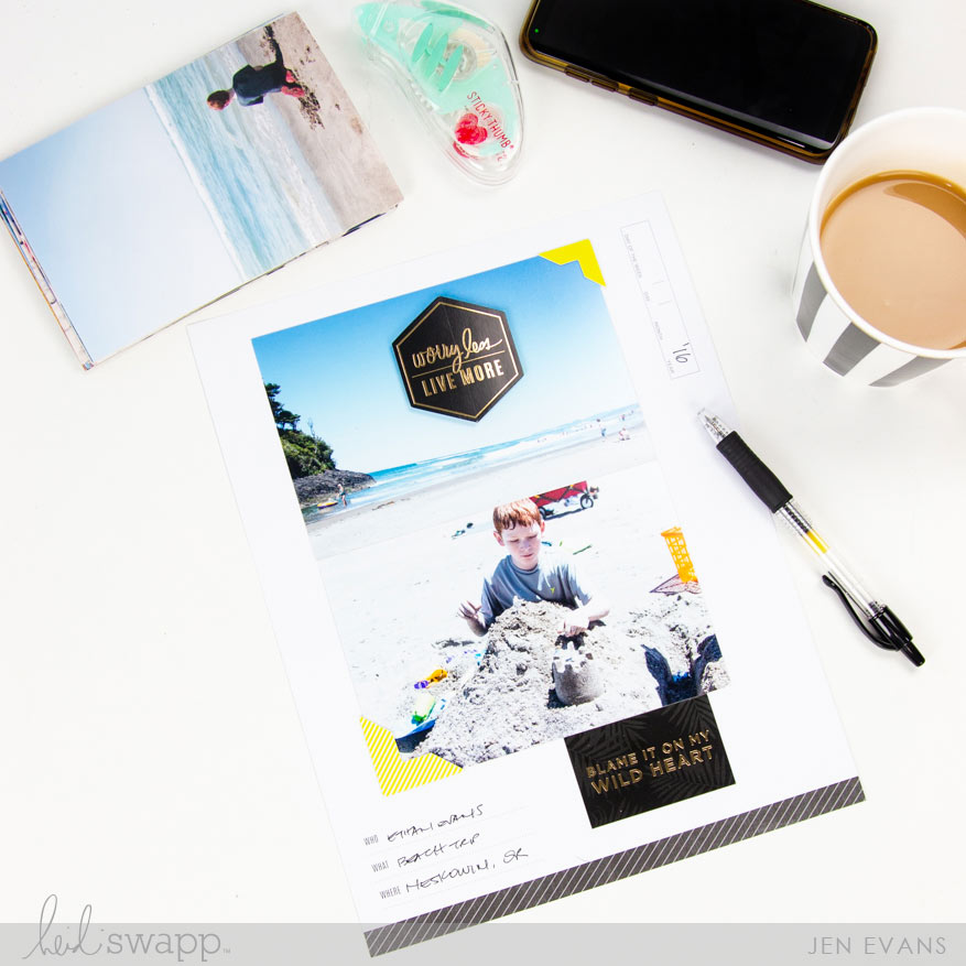 His and Hers Scrapbook Pages in Under 10 Minutes by @createoften for @heidiswapp