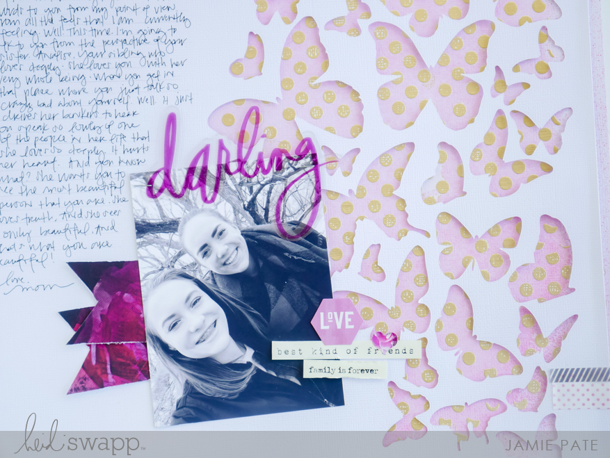 How to Create Foil Dot Background with Heidi Swapp Minc Machine by Jamie Pate | @jamiepate for @heidiswapp