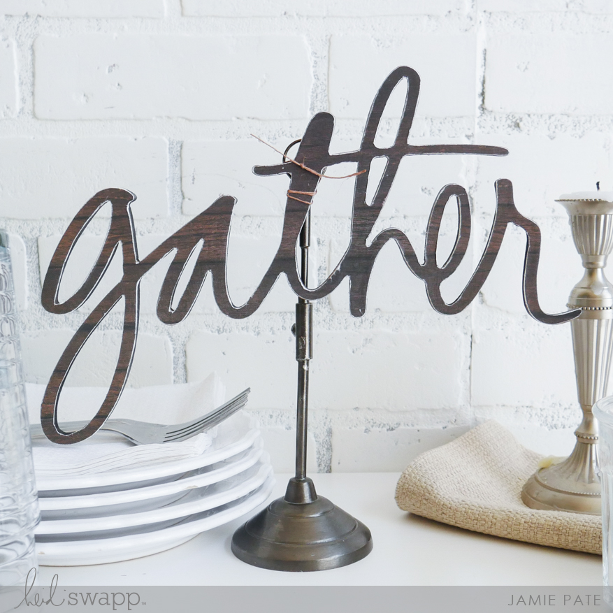 How To Gather With Heidi Swapp Wall Words by Jamie Pate | @jamiepate for @heidiswapp