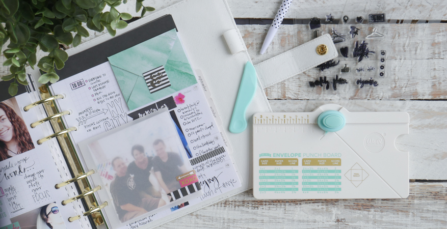 Mini Envelopes and Heidi Swapp Planner by Jamie Pate | @jamiepate for @heidiswapp