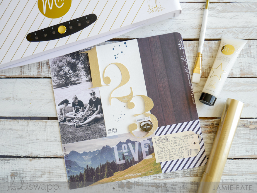 How To Foil a Scrapbook Title with Heidi Swapp Minc Machine by Jamie Pate | @jamiepate for @heidiswap