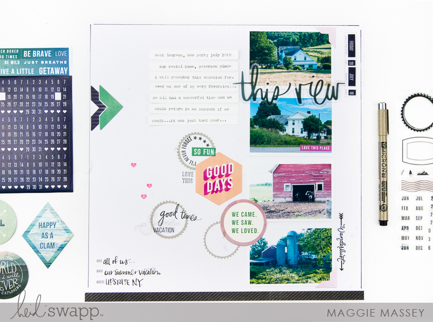 Using Hawthorne Stamps on Your Storyline Layout   Maggie Massey for Heidi Swapp
