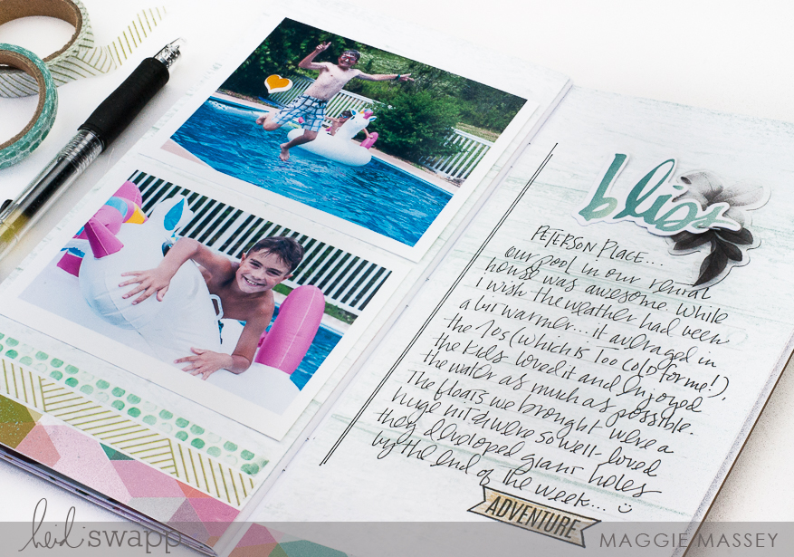 Creating TN spreads using the Pineapple Crush collection | Maggie Massey for Heidi Swapp