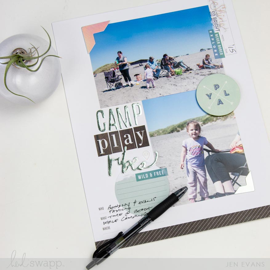 How to capture summer forever on a scrapbook page   Using Heidi Swapp Storyline collection by @createoften for @heidiswapp