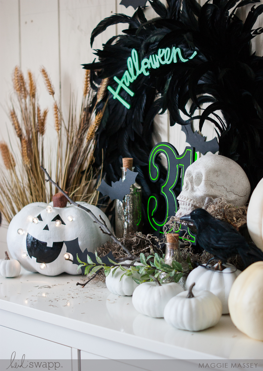 Our Halloween Entryway - with Heidi Swapp & Jo-Ann | Maggie Massey for Heidi Swapp