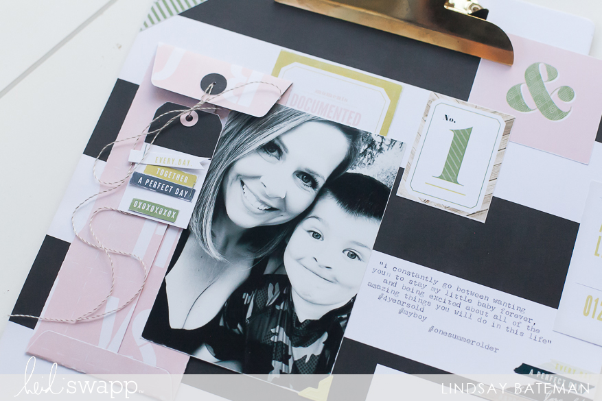 emerson lane scrapbook pages I @lindsaybateman for @heidiswapp
