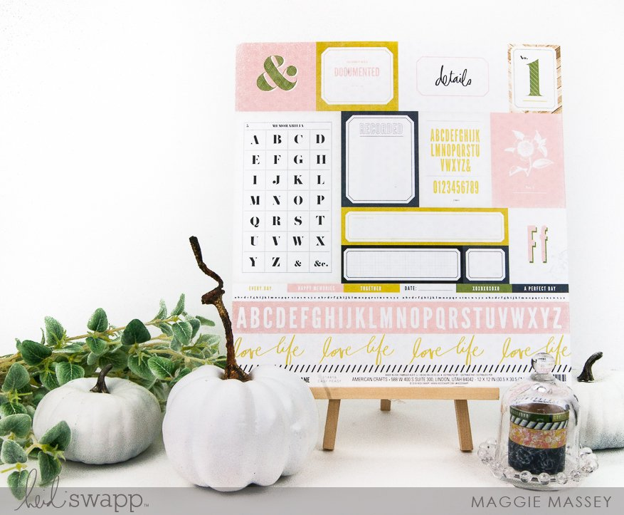 Emerson Lane :: a layout & some of my favorites | Maggie Massey for Heidi Swapp