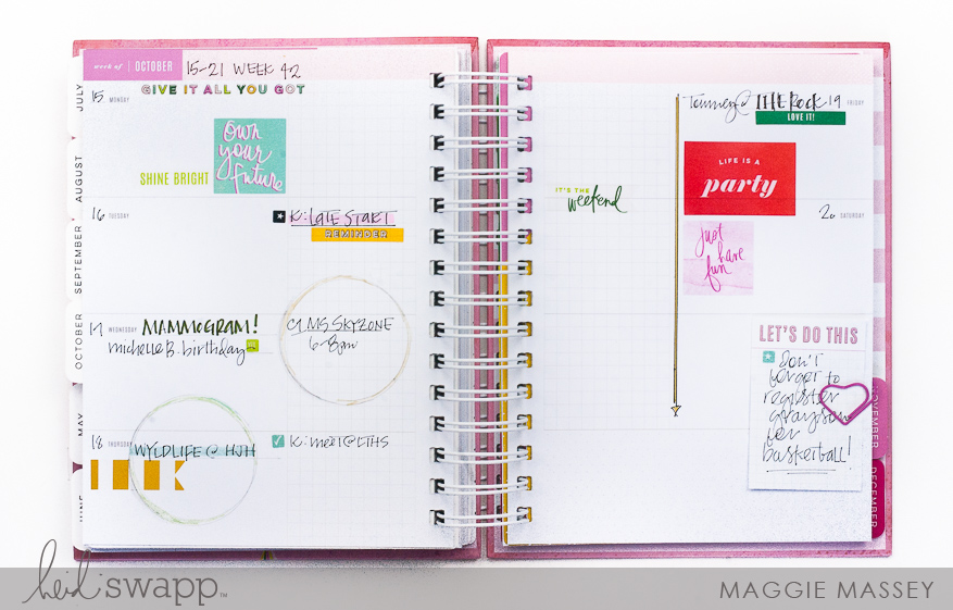 A look at the brand new Heidi Swapp Memory Planner 2019 :: Color Fresh :: Boxed Kit | Maggie Massey for Heidi Swapp