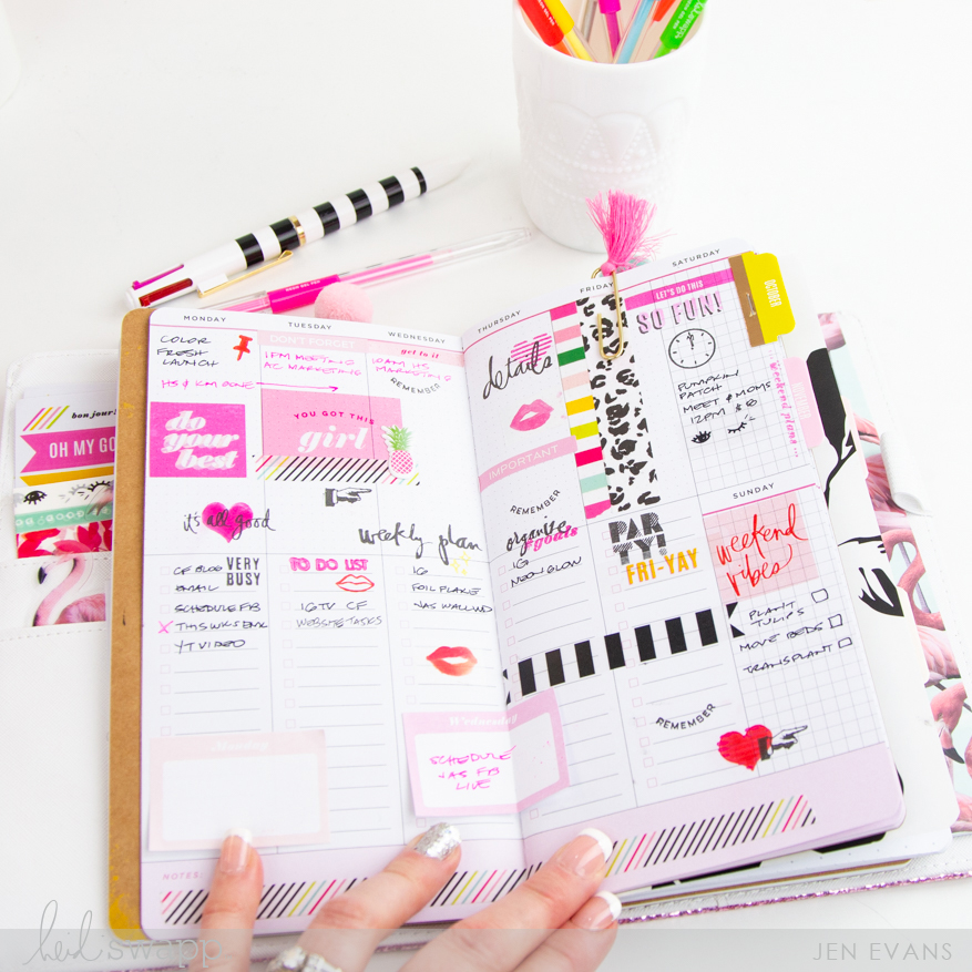 5 Ways to Plan and Stay Organized by @createoften for @heidiswapp using Heidi Swapp Color Fresh 2019 Planners