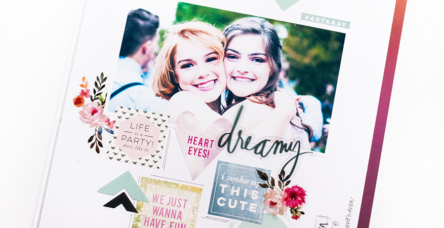 Creating a Storyline layout...step by step! | Maggie Massey for Heidi Swapp
