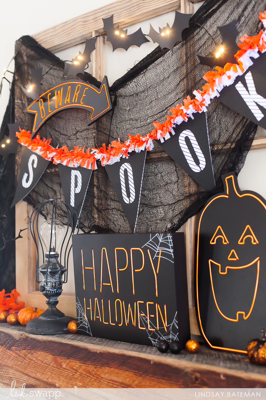 heidi swapp halloween home decor I @lindsaybateman for @heidiswapp