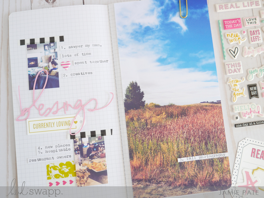 Gratitude Found in Journal Studio by Jamie Pate | @jamiepate for @heidiswapp