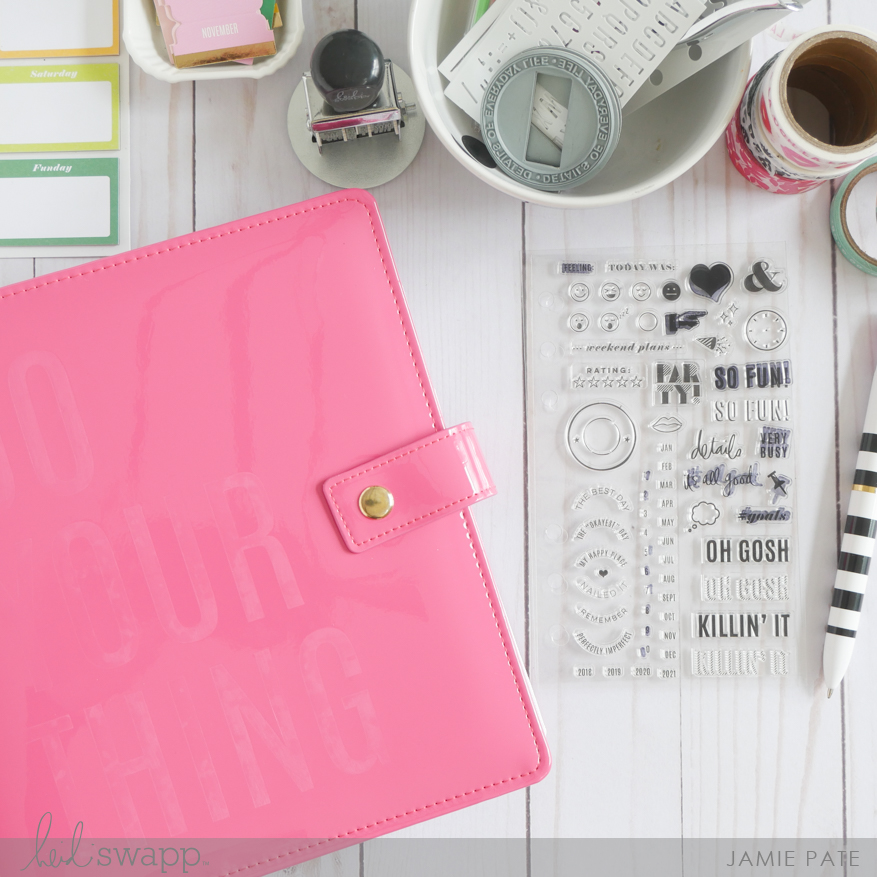 Heidi Swapp Color Fresh | A Look at the New Stamp Set by Jamie Pate | @jamiepate for @heidiswapp