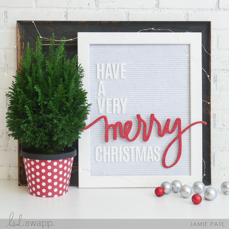 Heidi Swapp City SIdewalks Merry Wall Words by Jamie Pate | @jamiepate for @heidiswapp
