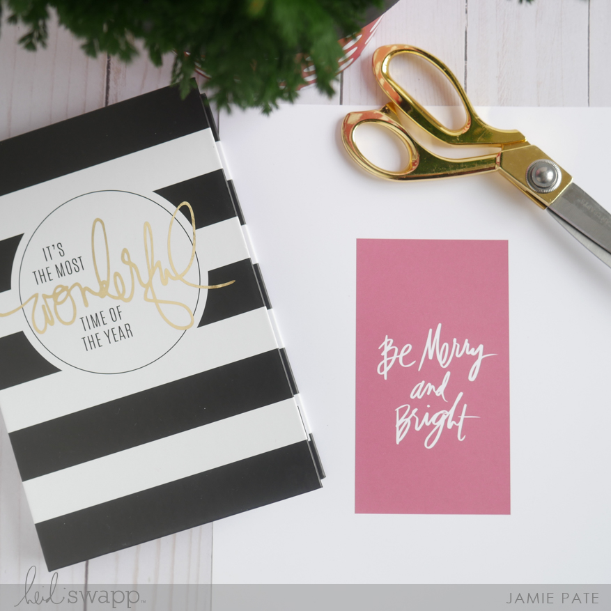Heidi Swapp Holiday Photo Book Kit by Jamie Pate | @jamiepate for @heidiswsapp