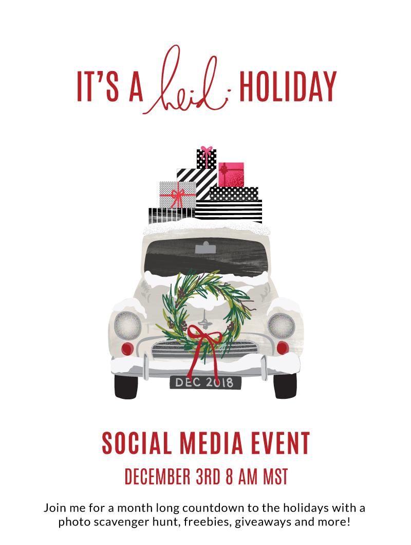 It's a Heidi Holiday! Online Event 2018