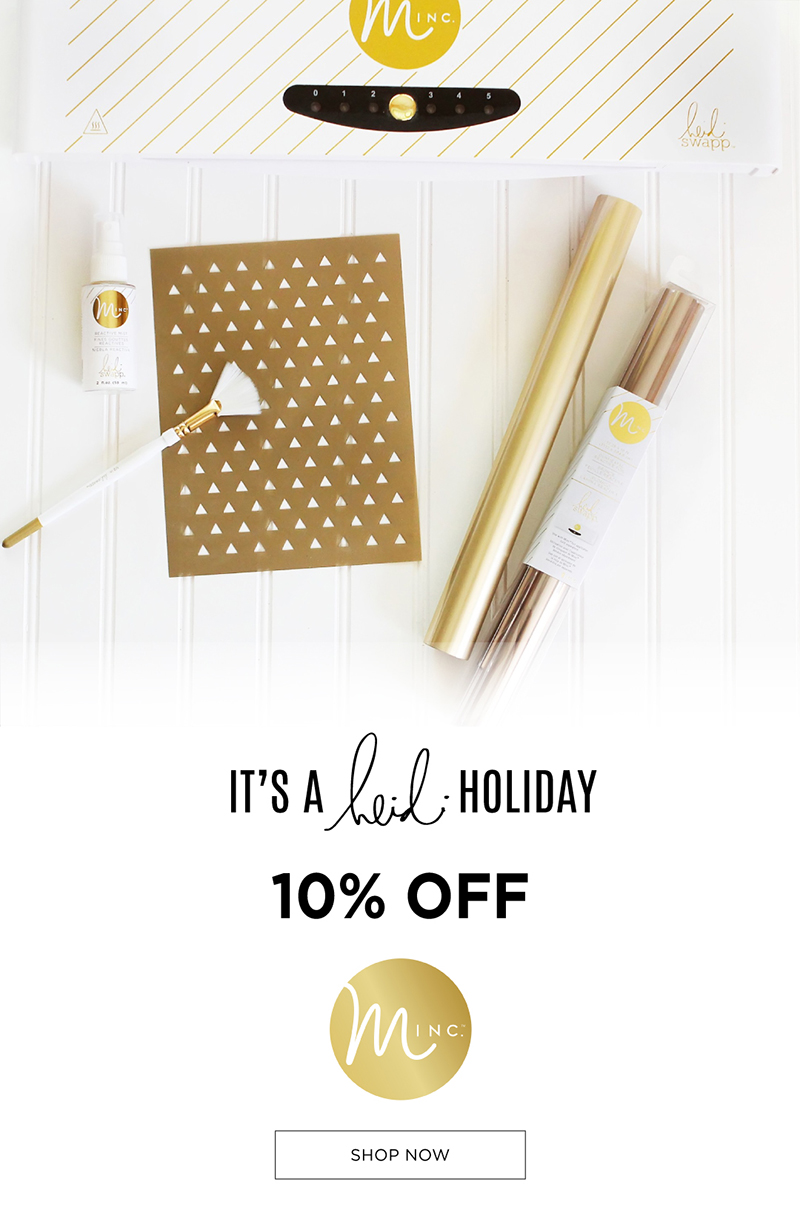 It's a Heidi Holiday | Minc Freebie and Giveaway @heidiswapp
