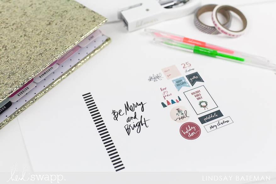 color fresh planner printable I @lindsaybateman for @heidiswapp