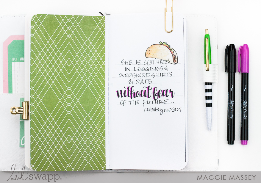 Documenting my favorite quotes with Journal Studio   Maggie Massey for Heidi Swapp