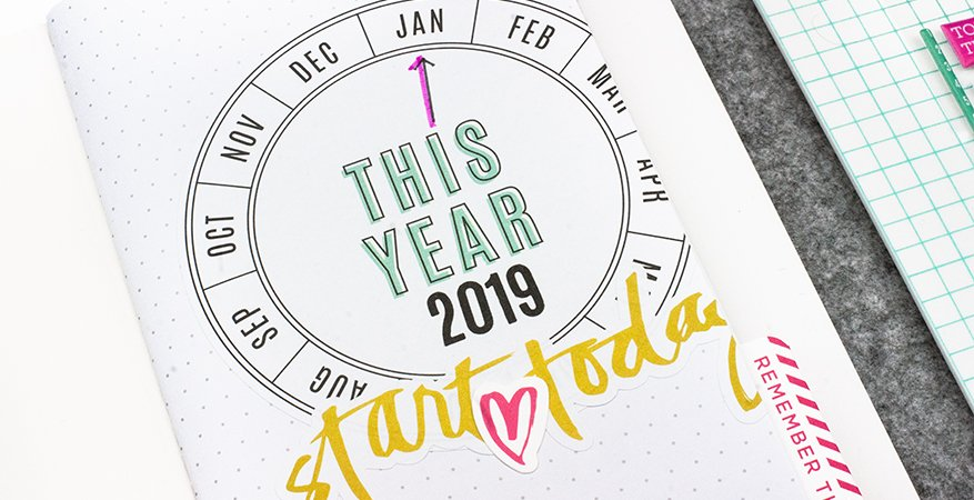 2019 Goal Setting with Journal Studio | Maggie Massey for Heidi Swapp