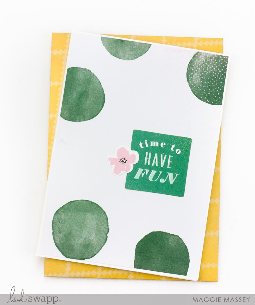 Color Fresh PaperLine - 5 Quick & Easy cards | Maggie Massey for Heidi Swapp