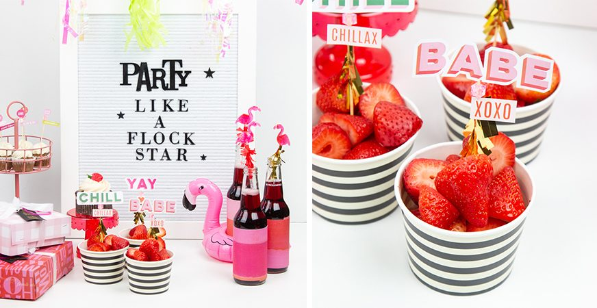 Flamingo Flock Star Party using @heidiswapp Color Fresh Paperline by @createoften