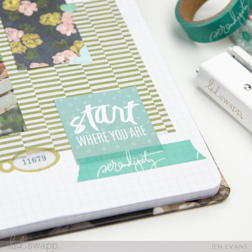 Floral Journal by @createoften for @heidiswapp