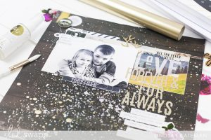 minc it monday DIY splatter background I @lindsaybateman for @heidiswapp