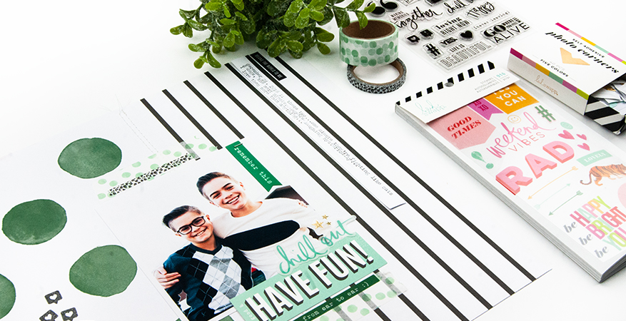 "Creating a ""BOY"" layout with the Color Fresh Paperline 
