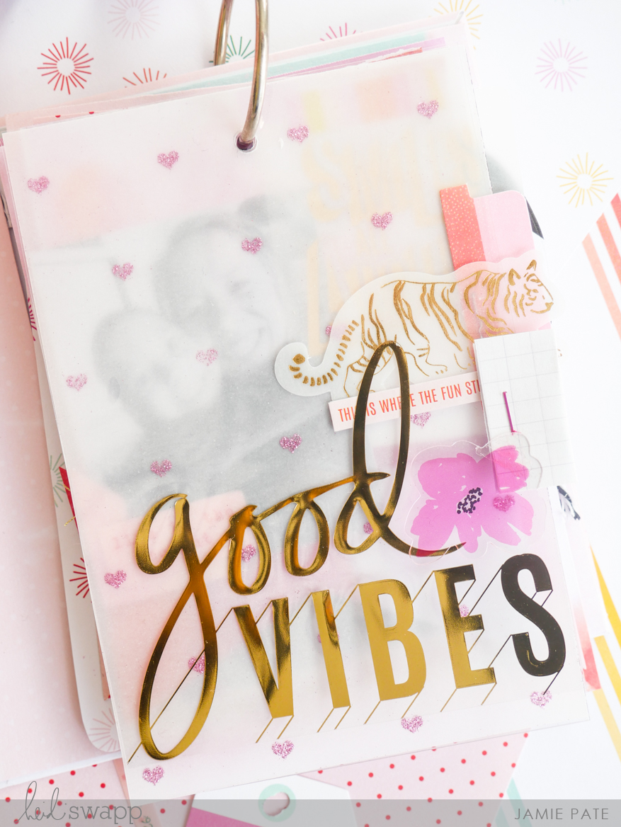 Heidi Swapp Color Fresh Mini Tag Album by Jamie Pate | @jamiepate for @heidiswapp