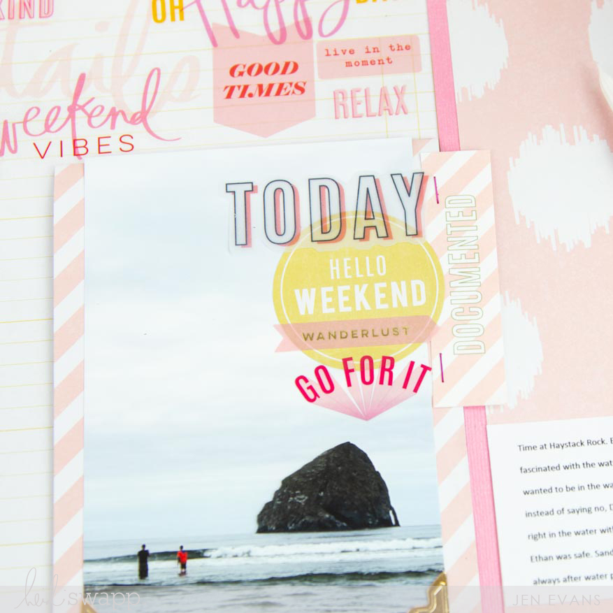 Interactive Color Fresh Scrapbook Page by @createoften for @heidiswapp