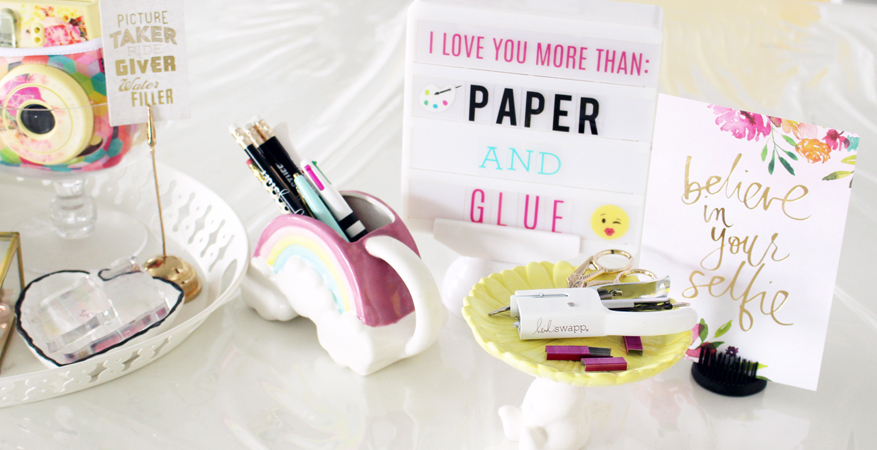 Handmade by Heidi ::desk accessory kit | Kim Jeffress for Heidi Swapp