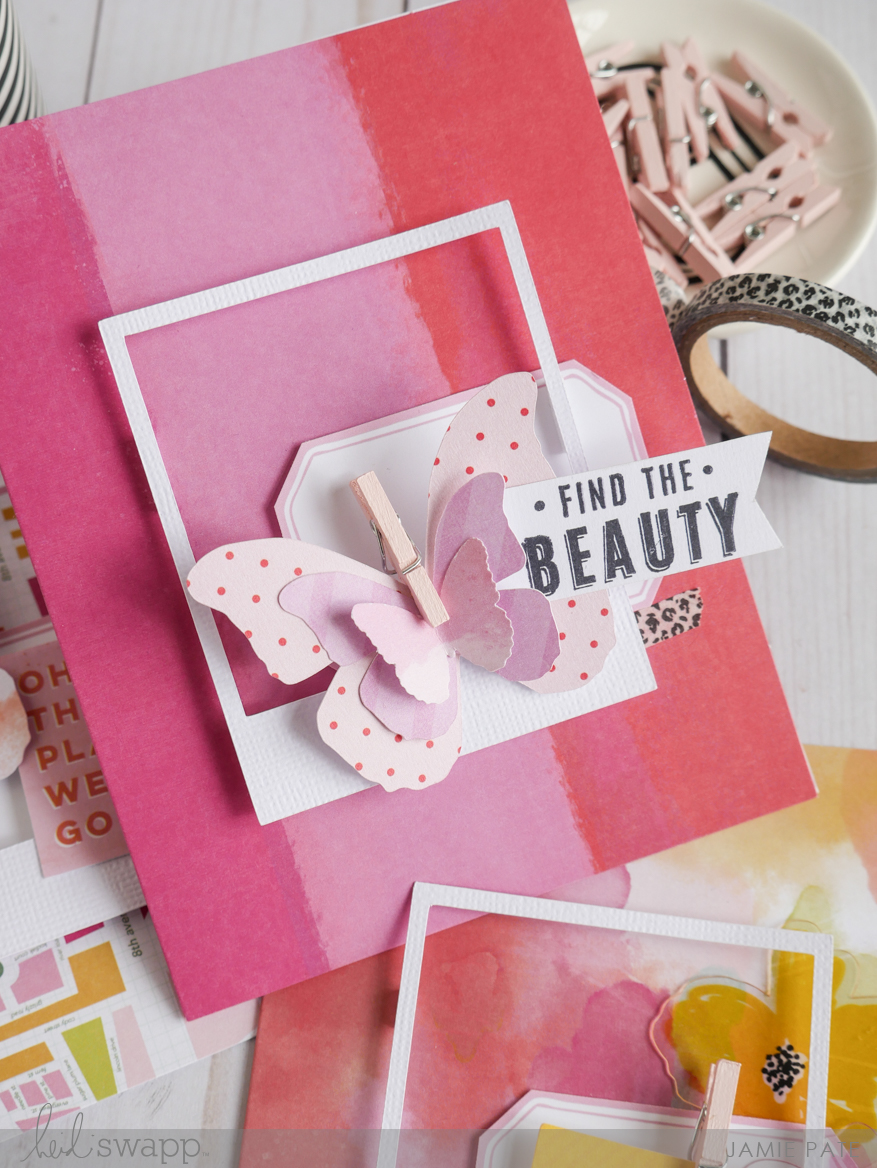How To Embellish Heidi Swapp Color Fresh Boxed Cards by Jamie Pate | @jamiepate for @heidiswapp