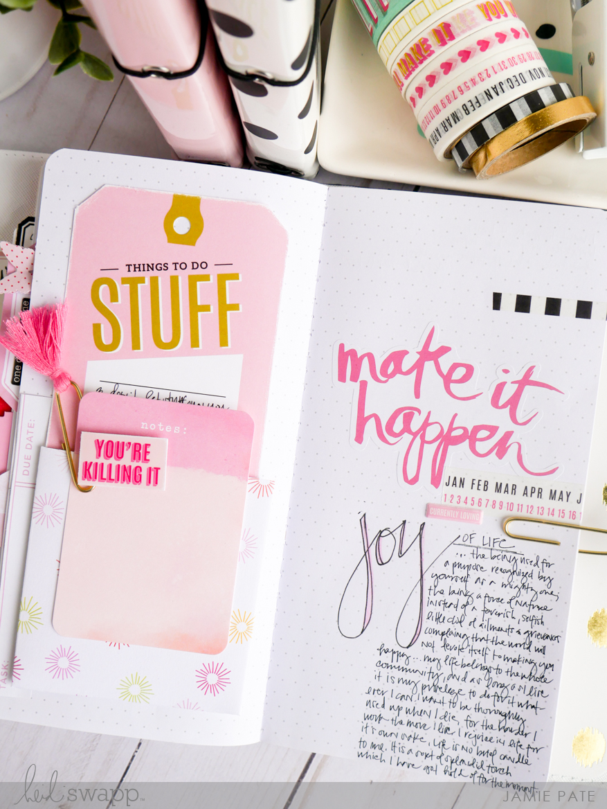How to Create Three Easy Heidi Swapp Journal Studio Page Layouts by Jamie Pate | @jamiepate for @heidiswapp