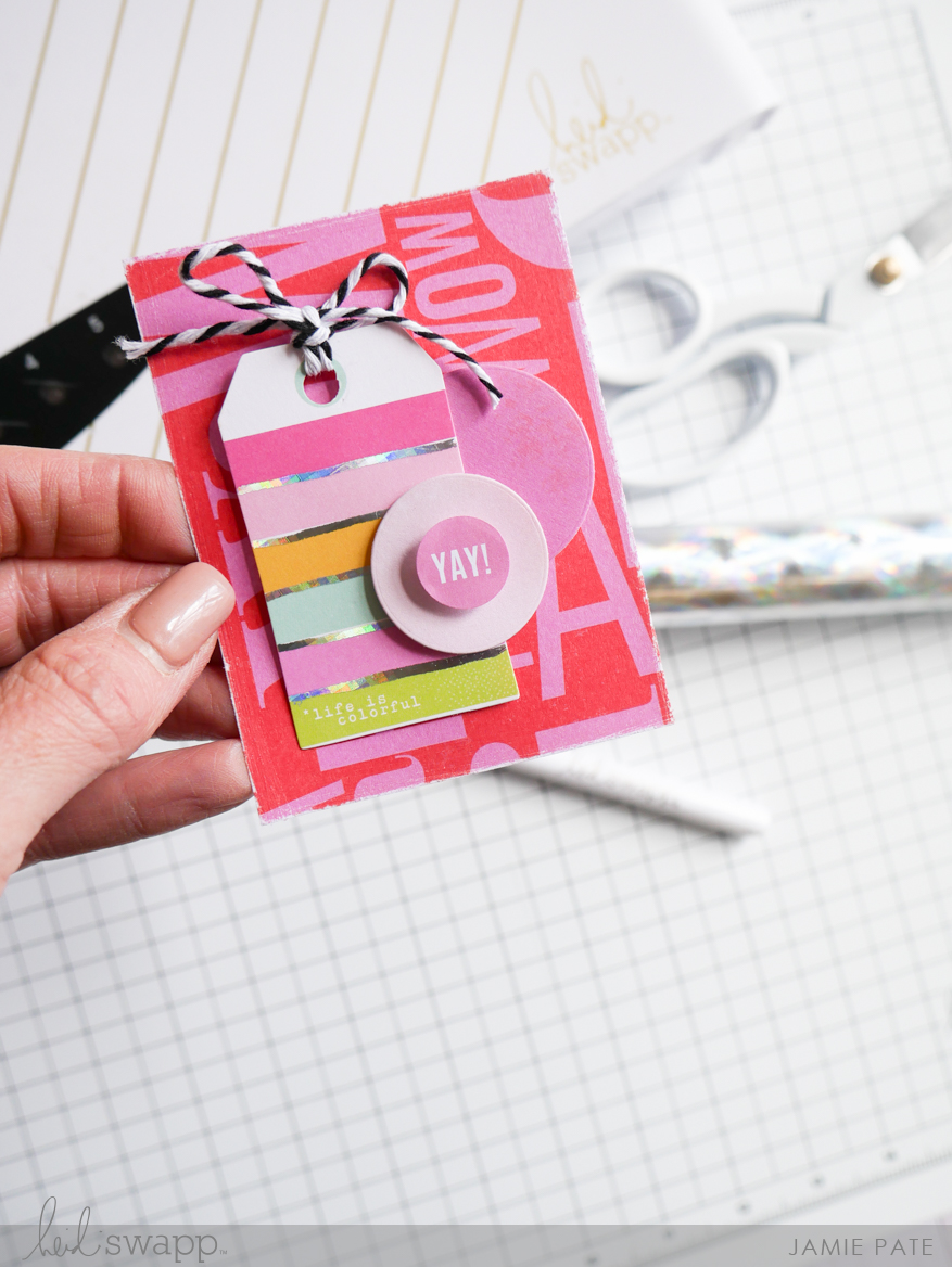 Heidi Swapp Minc Glue Pen Embellishment Ideas by Jamie Pate | @jamiepate for @heidiswapp