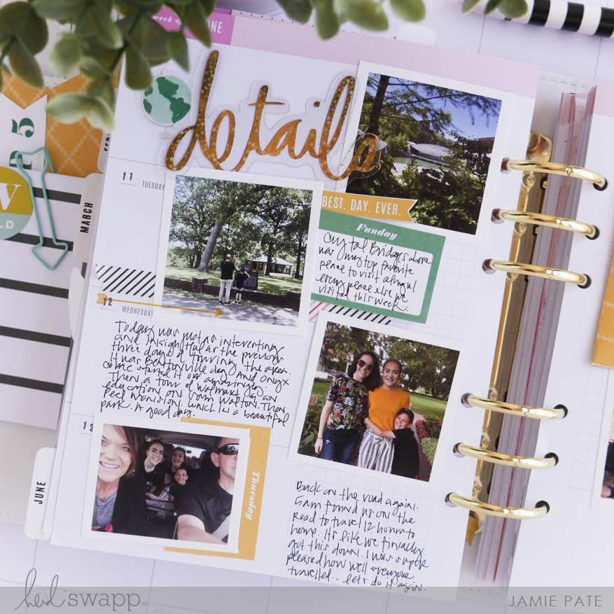 Keeping Record of LIfe with Heidi Swapp Memory Planner by Jamie Pate | @jamiepate for @heidiswapp