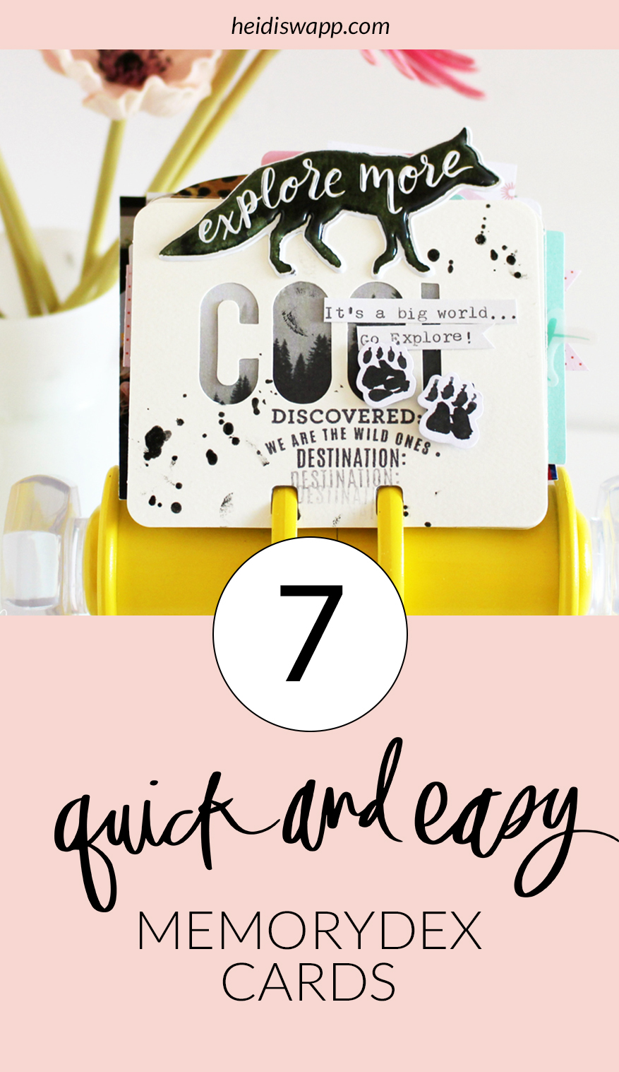 7 Quick and Easy MemoryDex Cards by Kim Jeffress for @heidiswapp