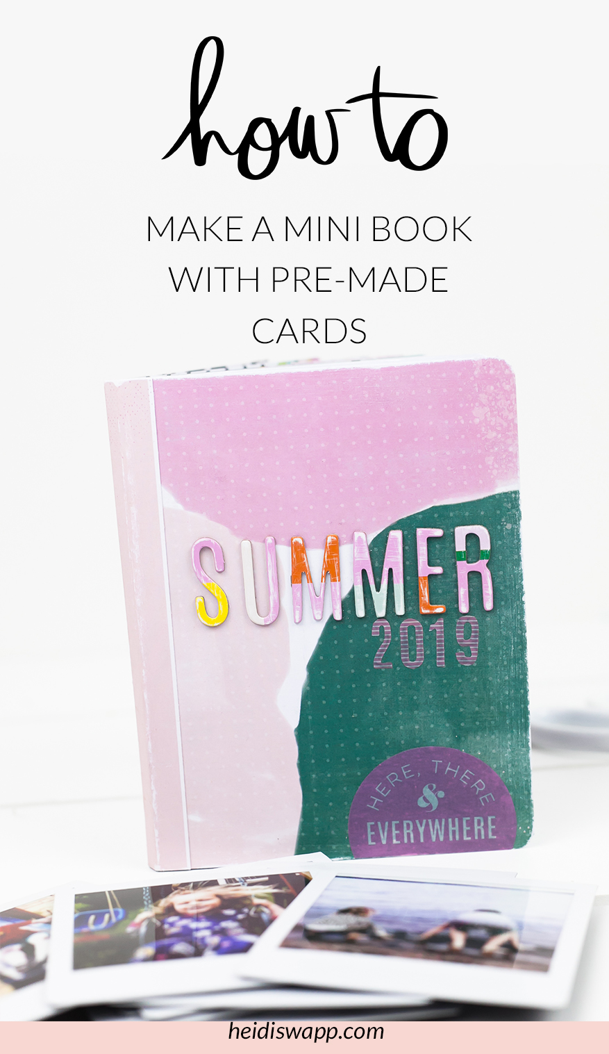 You won't believe how easy it is to create this Heidi Swapp DIY Mini Album simply with printed cards! Media Team Member, Lindsay Bateman, will walk you through step by step to assemble this book. Add your instax or other printed photos to the book to make a one of a kind scrapbooking keepsake.