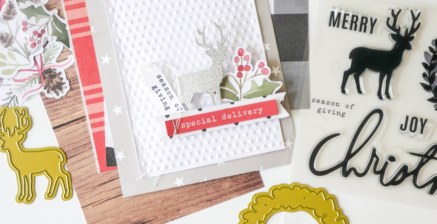 How To Make Quick Holiday Cards with Heid Swapp Winter Wonderland