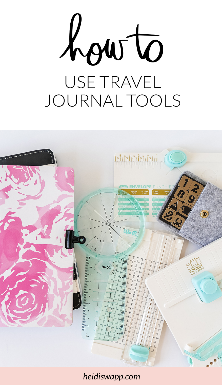 How to use Travel Journal Tools by @jamiepate for @heidiswapp