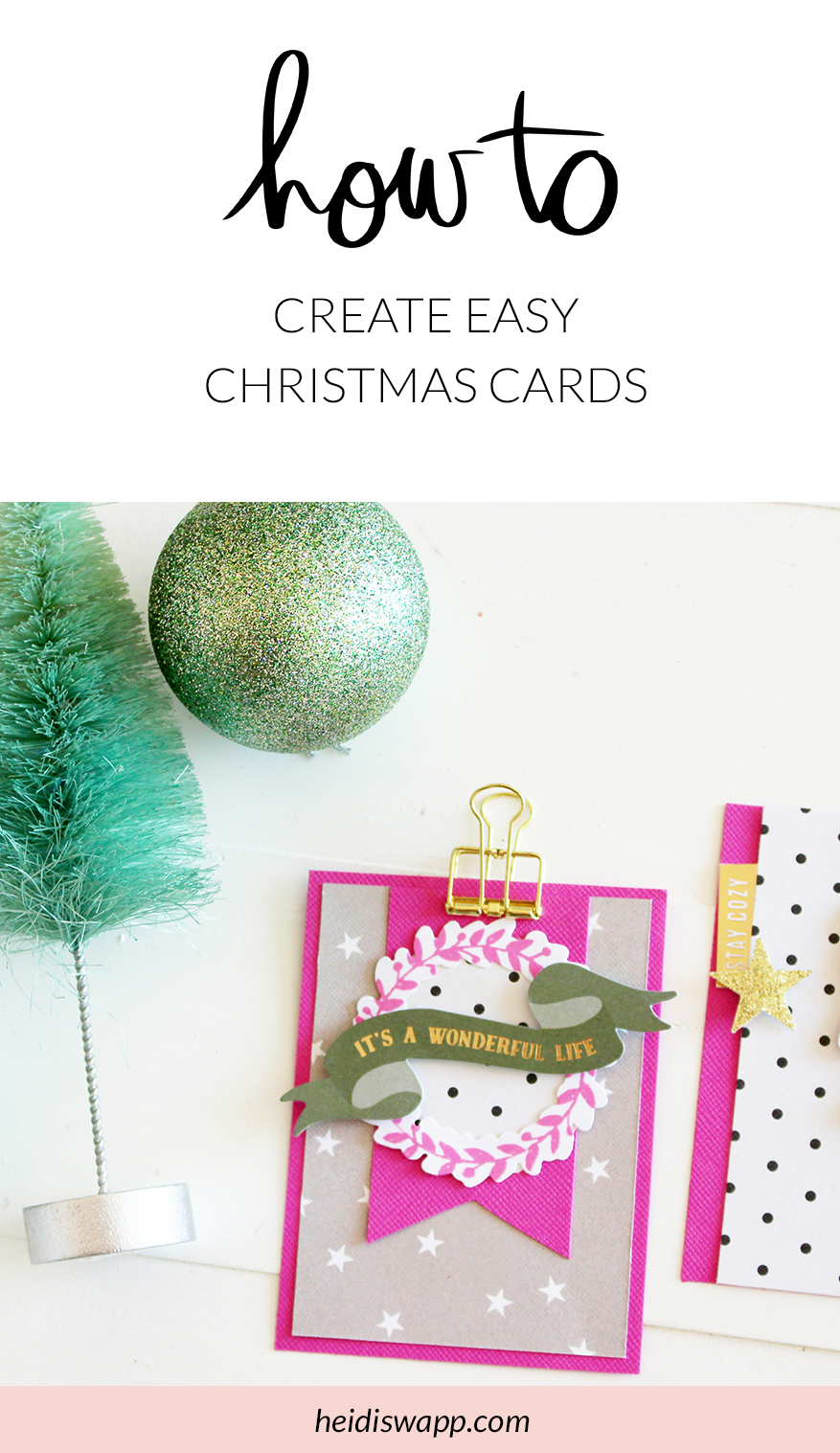 Create DIY Christmas cards with this FREE card tutorial by media team member Kim Jeffress. She walks through 3 simple card ideas using my Winter Wonderland stamp and die set. Crafting never was easier!