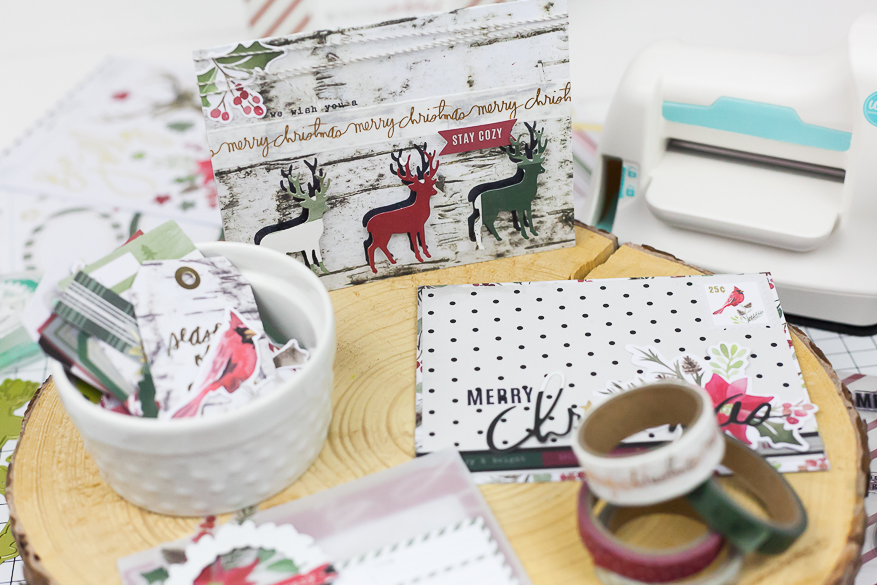 winter wonderland card making I @lindsaybateman for @heidiswapp