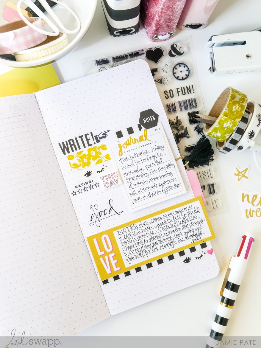 How To Track Life With a Heidi Swapp Traveler's Journal