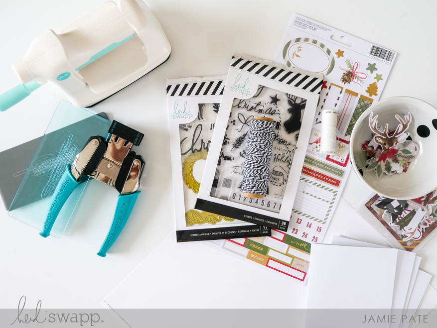 Heidi Swapp Winter Wonderland and WRMK Mini Evolution Holiday Cards