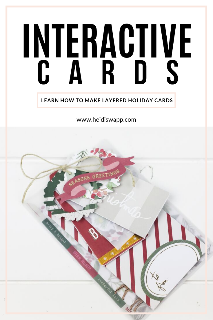 Learn how simply fun creating DIY interactive holiday cards can be! Watch media team member, Lindsay Bateman, create a layered cards using Heidi Swapp Winter Wonderland collection in a video tutorial.