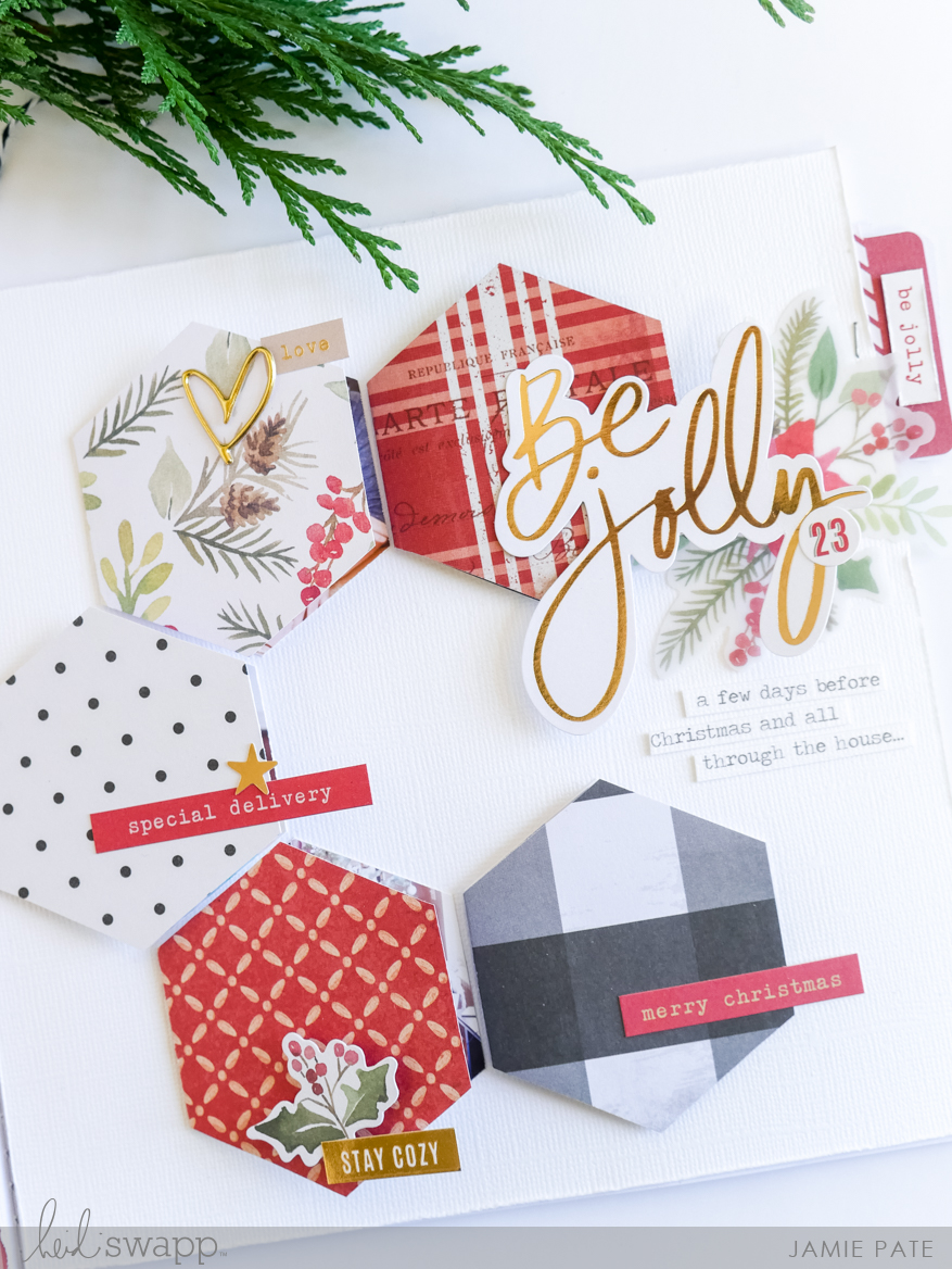 Heidi Swapp December Countdown Album Finished Pages