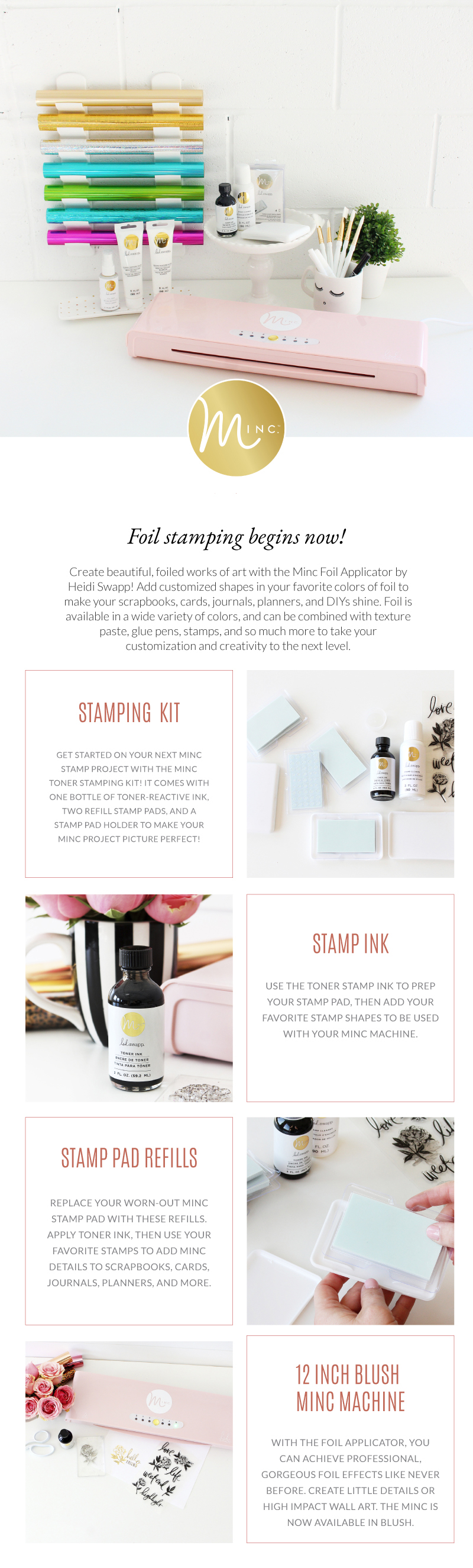 Introducing Heidi Swapp MINC Stamping in 2020 | @heidiswapp