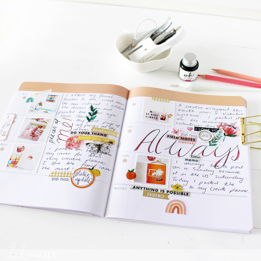 dip pen and storyline chapters planner