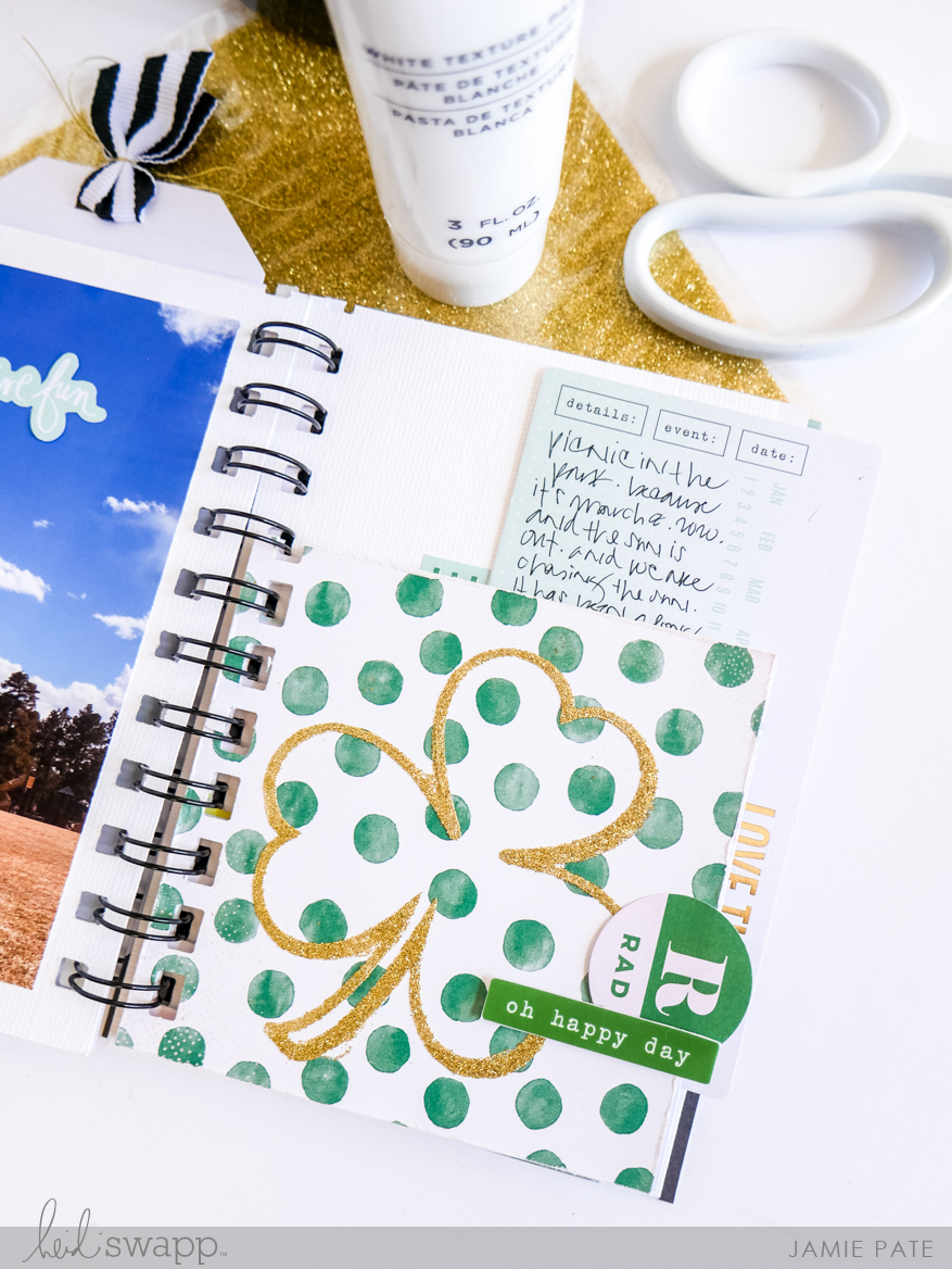 Heidi Swapp St Patrick's Inspired Minc It Monday
