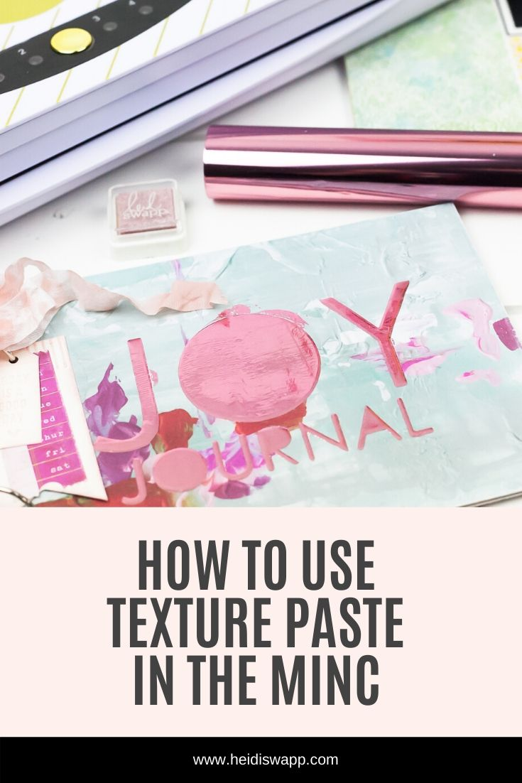 Check out this tutorial sharing how to DIY foil texture paste in the MINC Foil Applicator by @heidiswapp